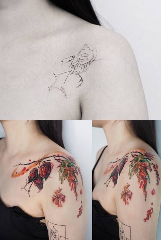 e5af20ea2 34. Autumn themed freehand cover-up by Bona.