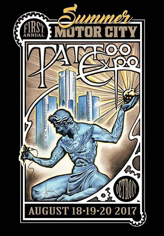 1st annual summer motor city tattoo expo tattoofilter for Detroit tattoo convention 2017