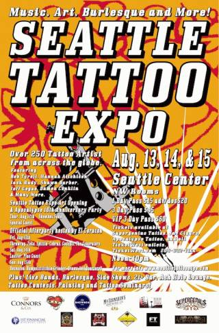 17th seattle tattoo expo tattoofilter for Tattoo expo seattle