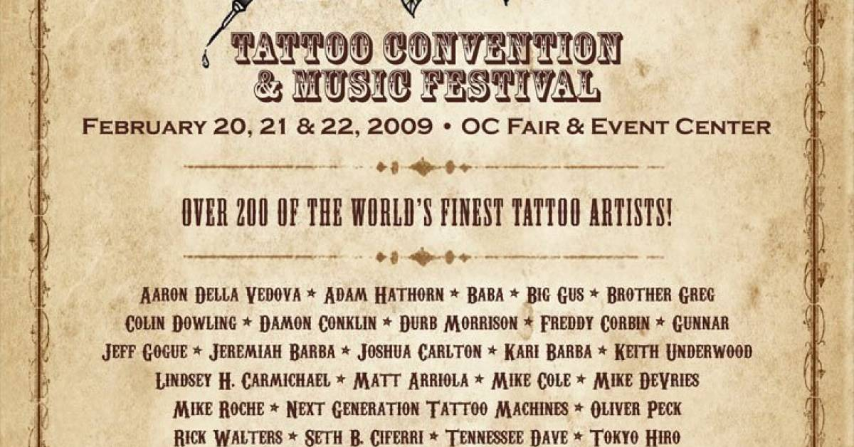 2nd Musink Tattoo Convention Music Festival Tattoofilter