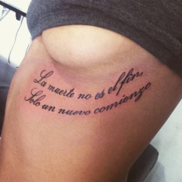 Tatuaje Que Dice La Muerte No Es El Fin Sólo Un