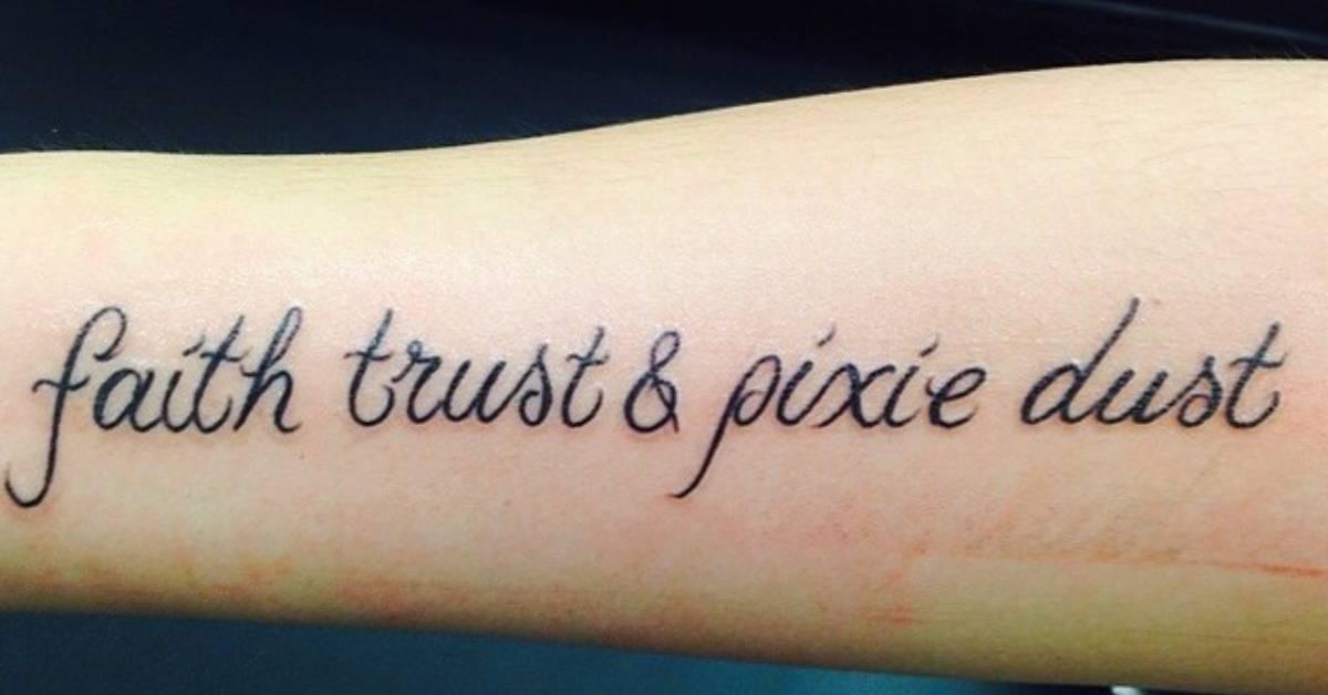 faith trust pixie dust tattoo onf sam nicole 39 s. Black Bedroom Furniture Sets. Home Design Ideas
