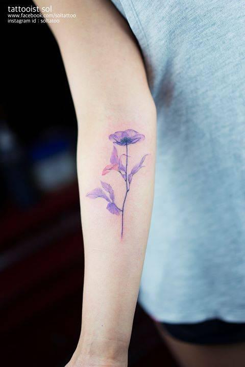 X Ray Flower Tattoo On The Left Inner Arm Tattoo Artist: X-ray Flower Tattoo