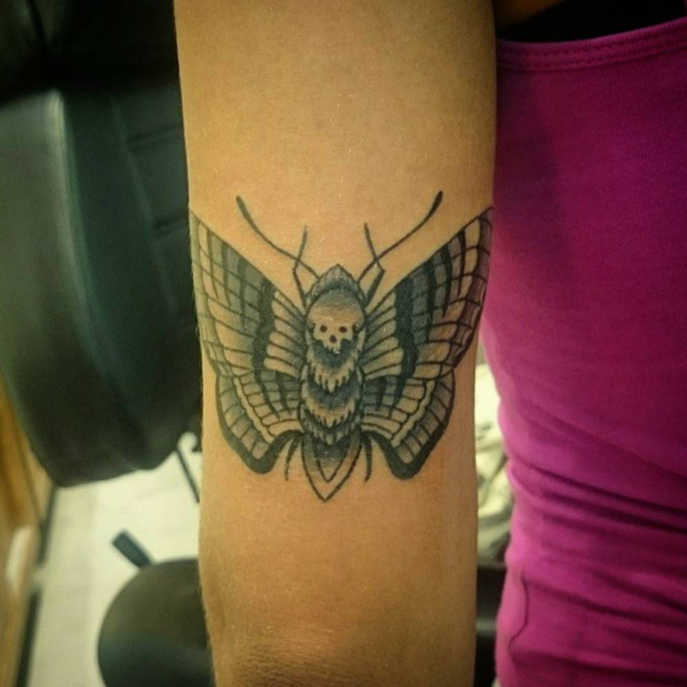 tricep tattoo of a butterfly by andr de camargo. Black Bedroom Furniture Sets. Home Design Ideas