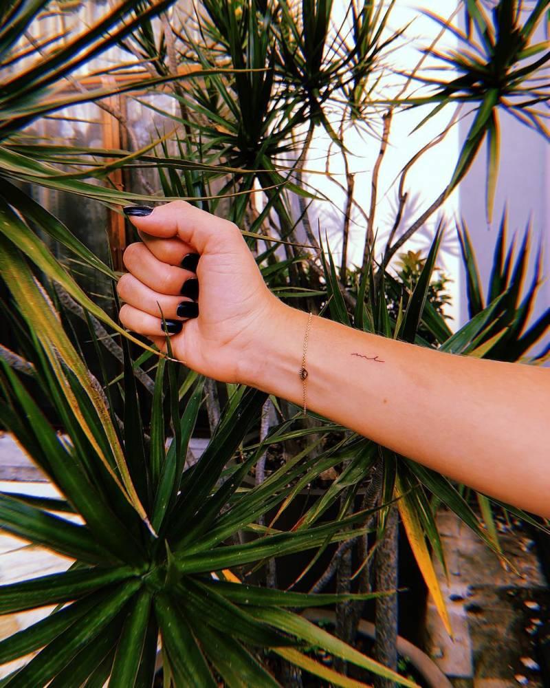M L tattoo on Pau Peña