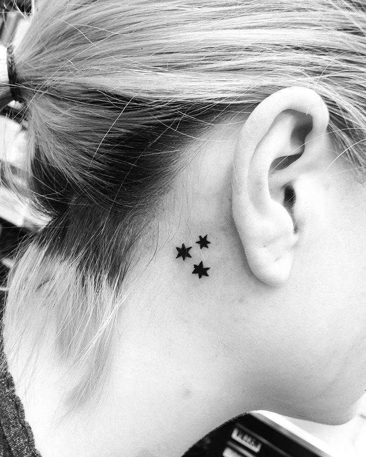 Harry Potter book stars tattoo.