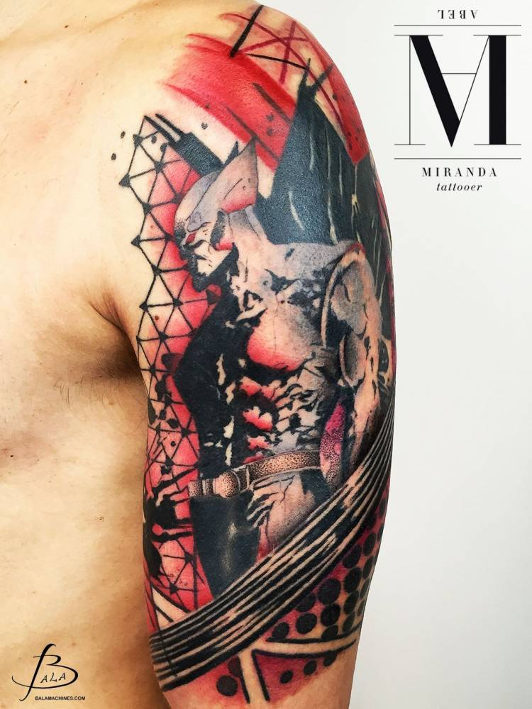 Wolverine Inspired Graphic Tattoo On The Left Upper Arm
