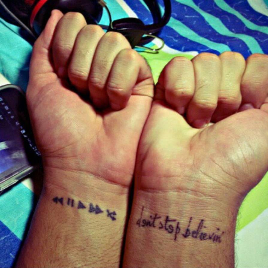 e496cc3cc8a57 Wrist tattoos of five music media controls and the