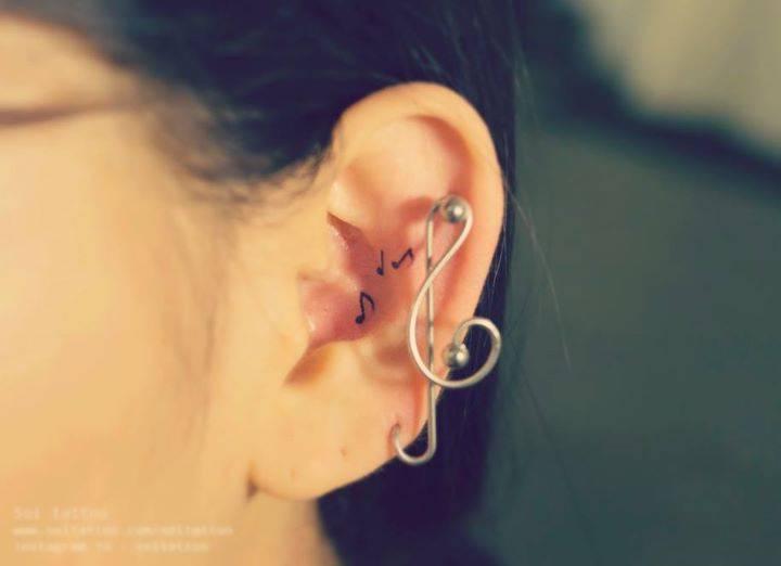 l Cool Music Note Tattoo Small @koolgadgetz.com.info