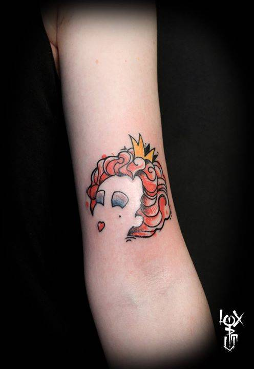 The queen of hearts from the book alice 39 s adventures for Red queen tattoo