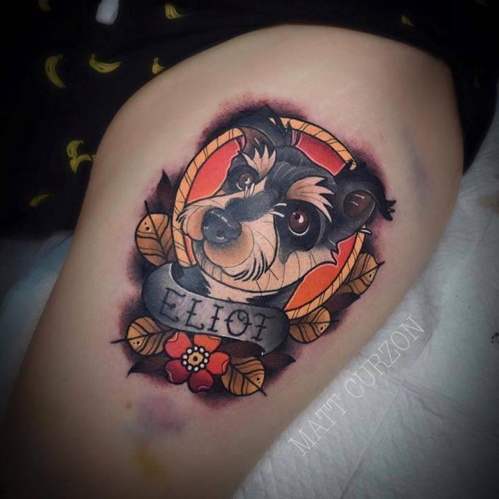 l - Neo Traditional Tattoo Dog
