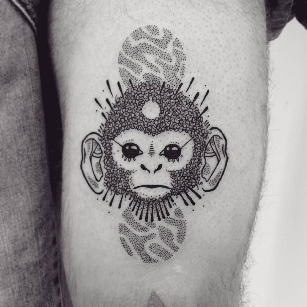 Girly Arrow Tattoos Capuchin monkey tattoo...