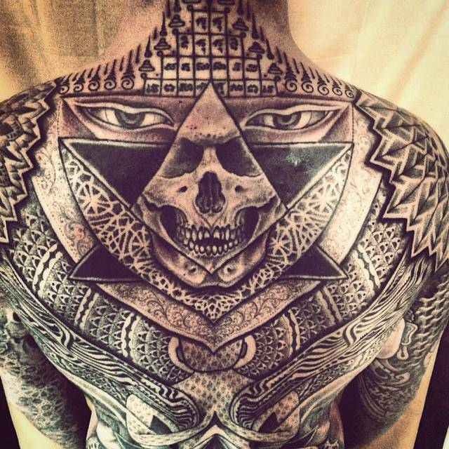 Sacred geometry backpiece.