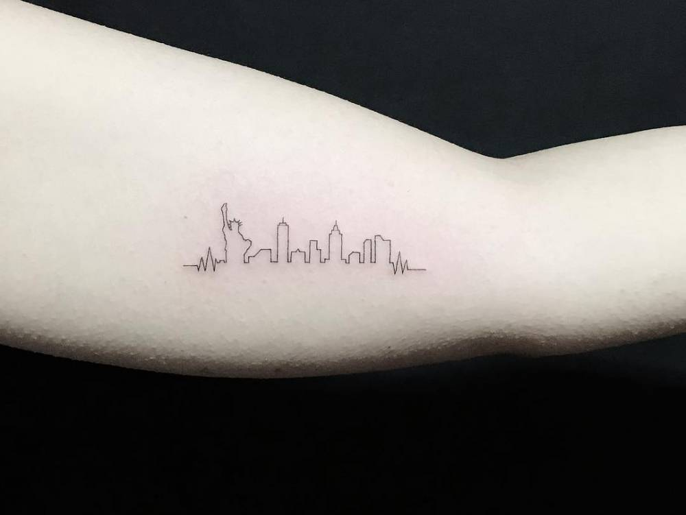 NYC Skyline tattoo
