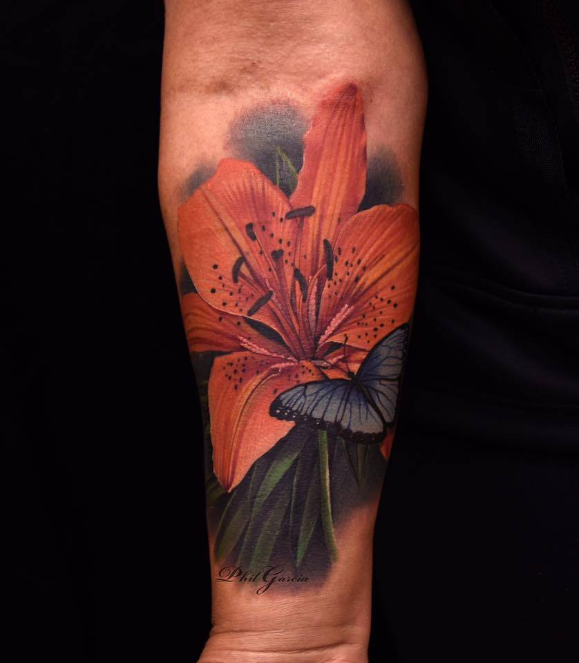 Image result for orange lily tattoo
