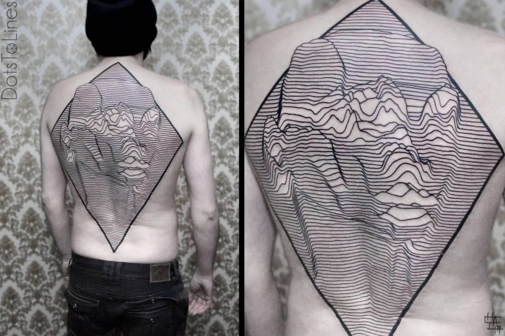 Geometric-Op Art backpiece.