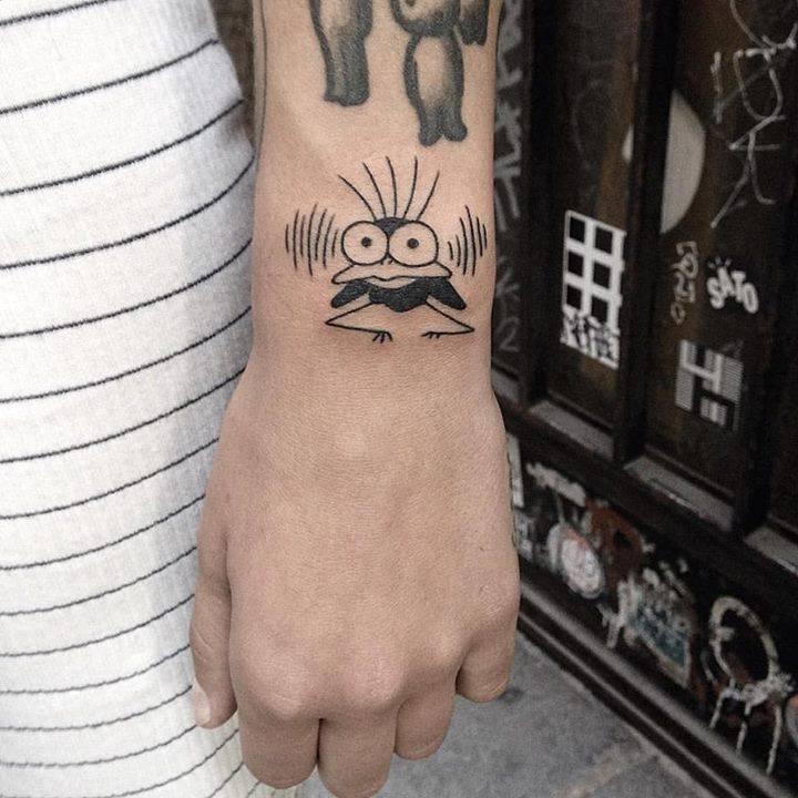 Cute Fly Tattoo From Miyazaki S Movie Spirited Away