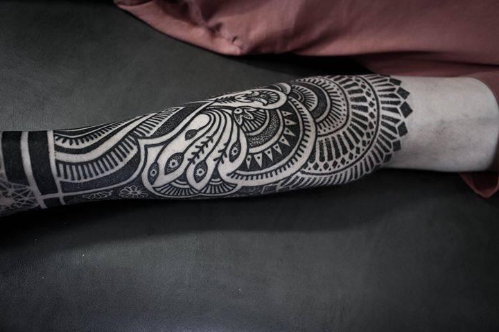 Henna inspired forearm piece.