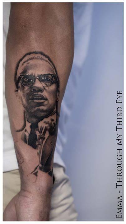Malcom x tattoo for rikki for Malcolm x tattoo