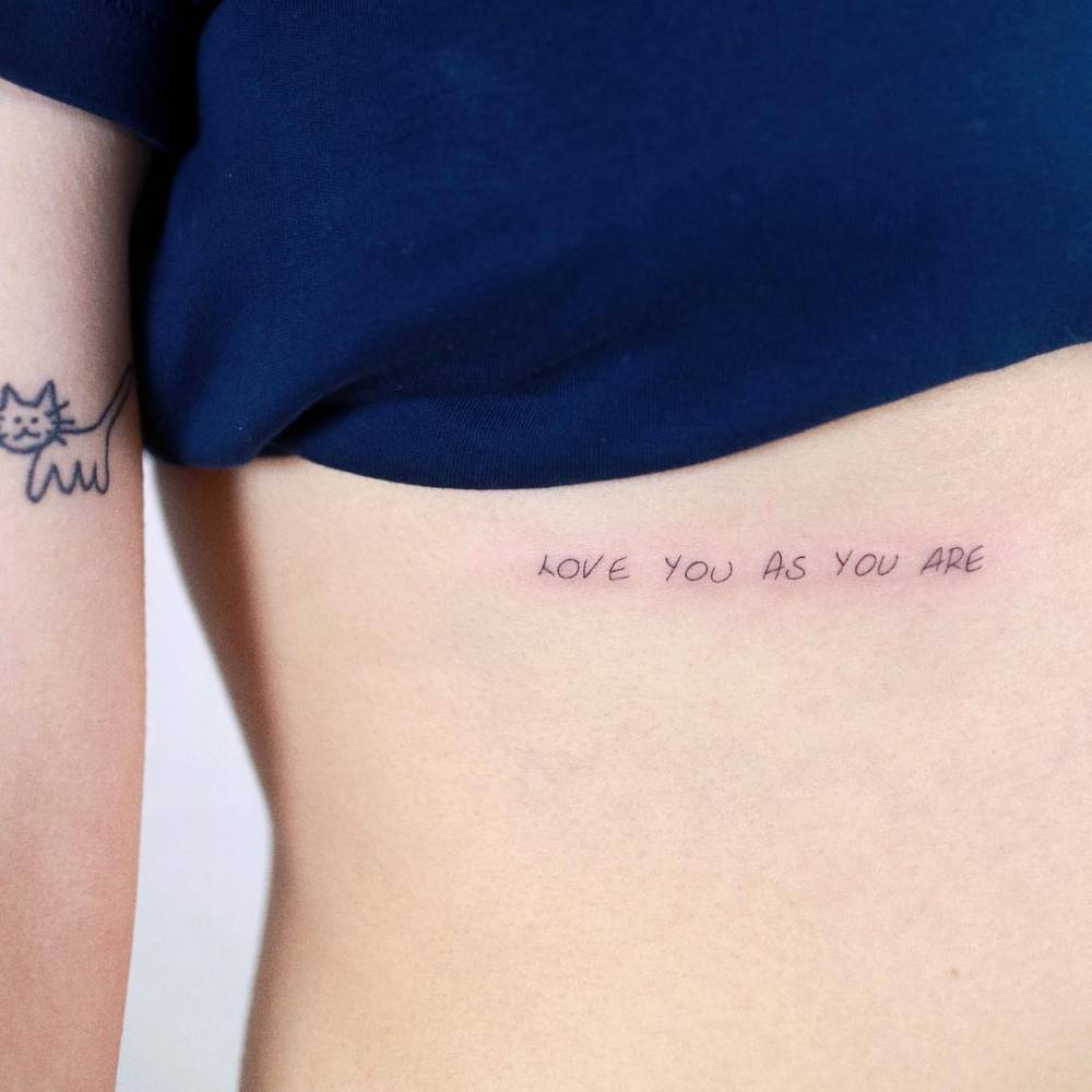 """""""Love you as you are"""""""