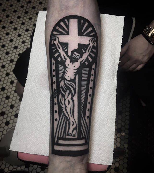 Jesus tattoo done east river tattoo for East river tattoo price