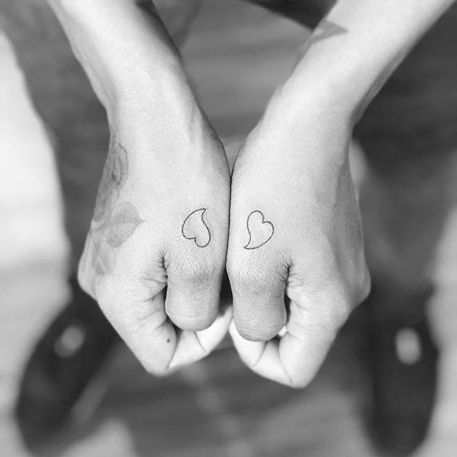 Matching hearts.