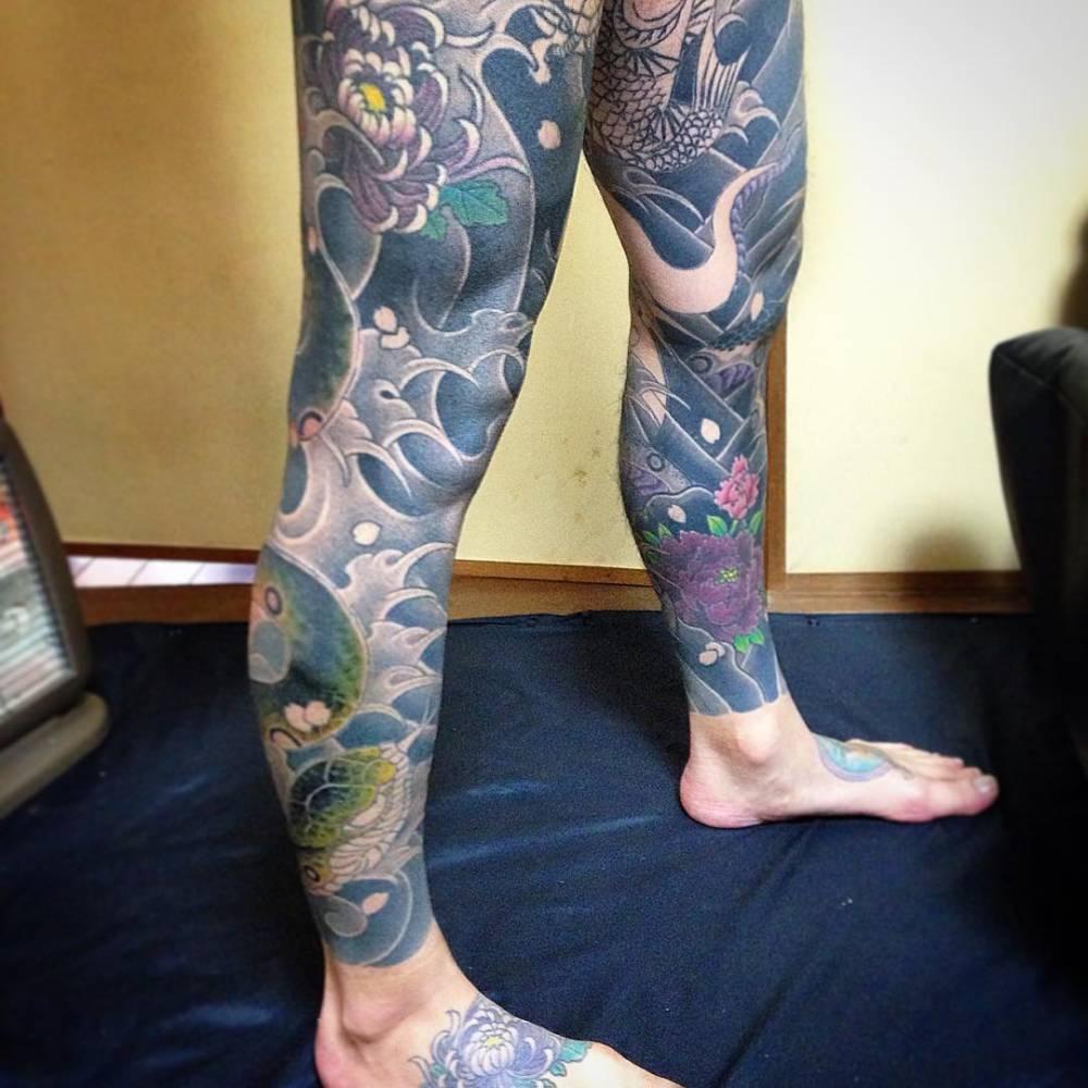 Full Leg Sleeve Tattoos Designs