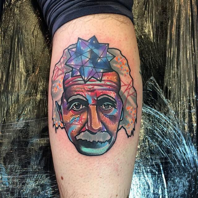 Surrealistpsychedelic Style Albert Einstein Portrait