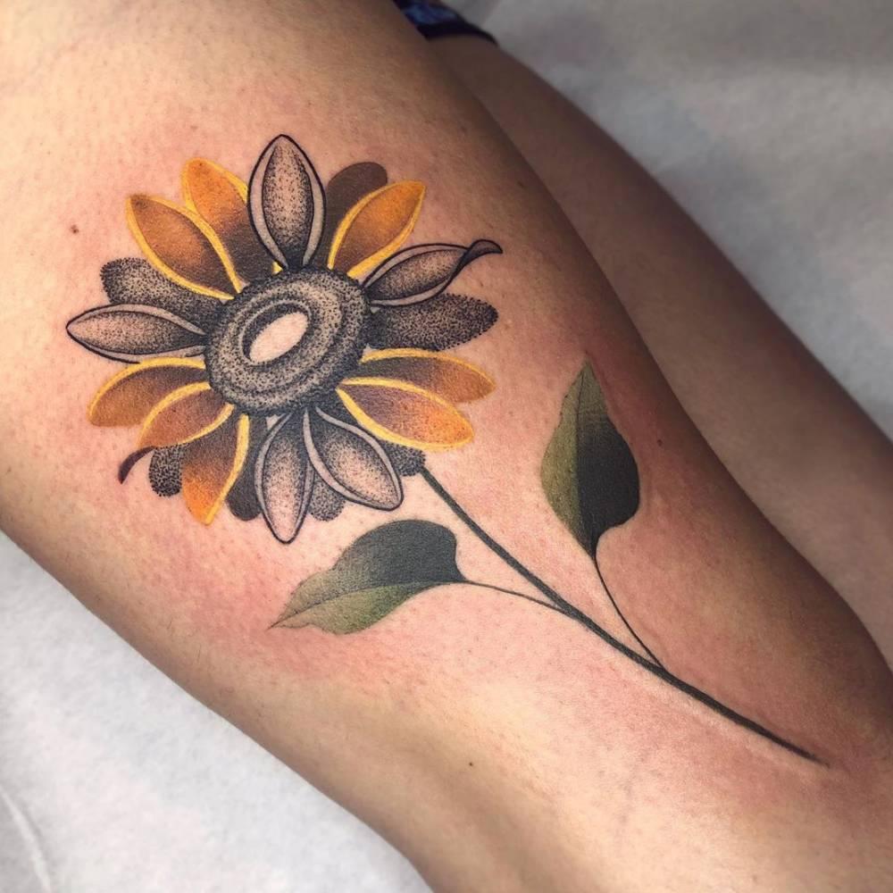 Tatuaje de un girasol