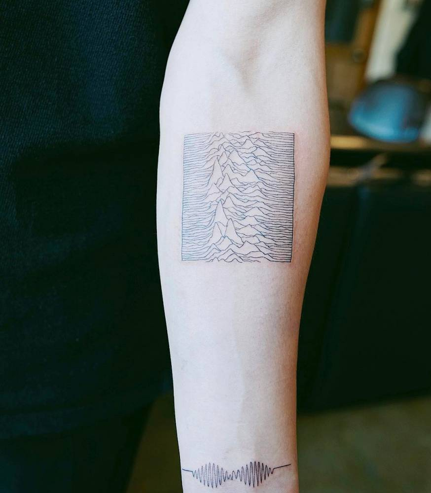 Joy Division's Unknown Pleasures Album Inspired Tattoo