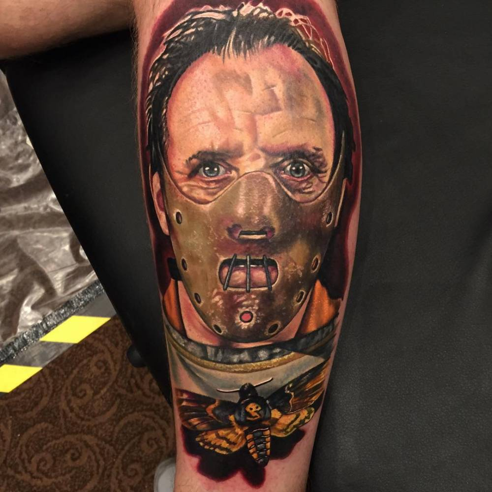 """But of cannibal action today. Really enjoyed this piece. End of day 1 at the awesome Galway Tattoo Show. Fantastic convention full of great people."""