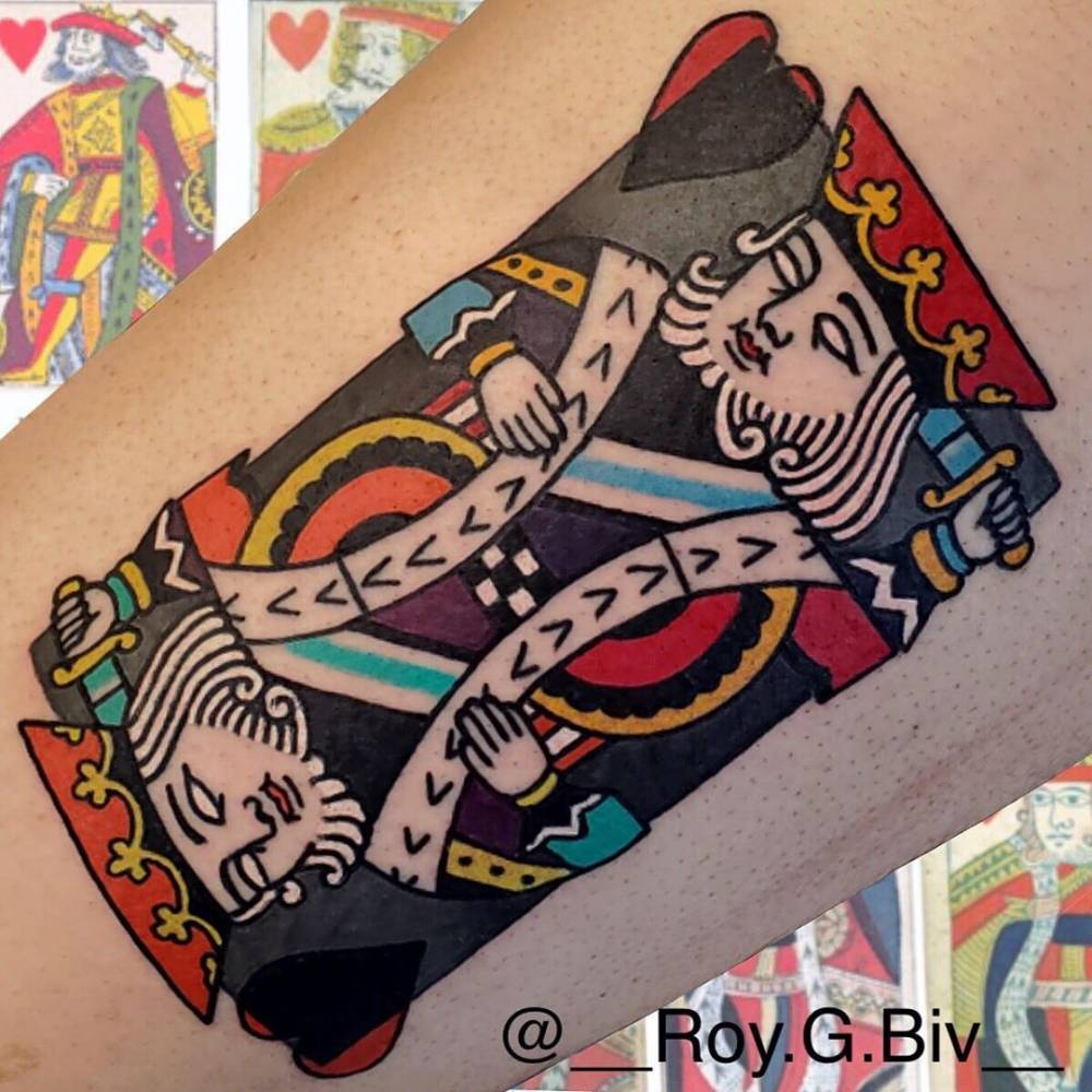 King of hearts tattoo.
