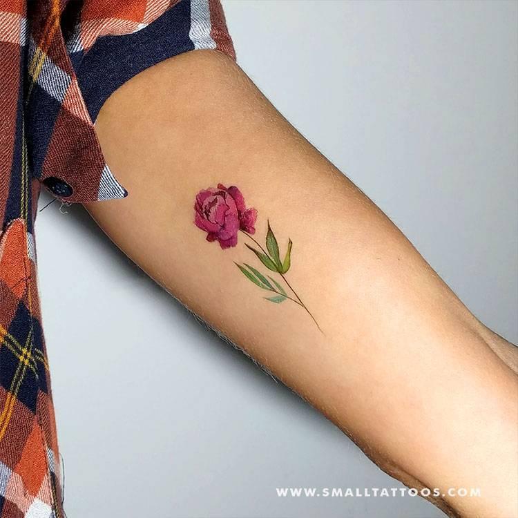 Peony temporary tattoo by Lena Fedchenko, get it here ►