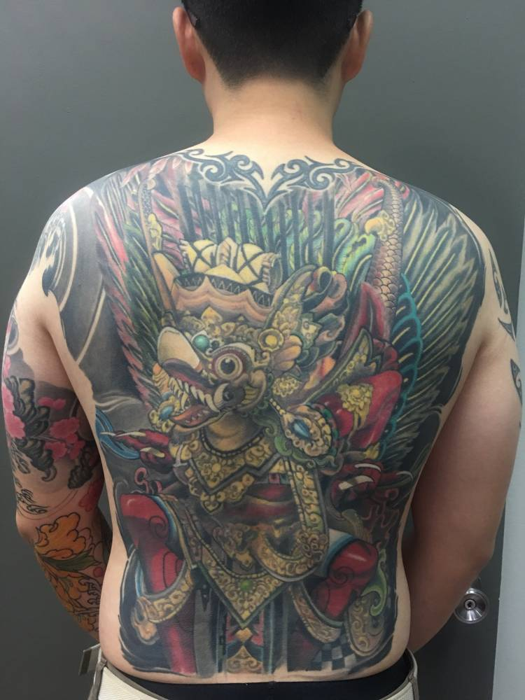 A barong back piece
