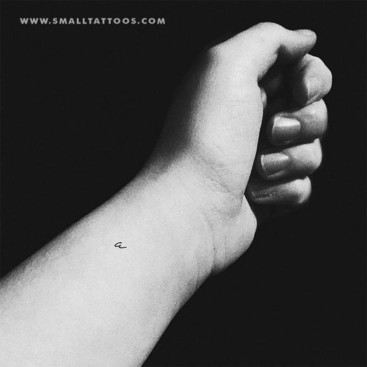 Handwritten a letter temporary tattoo, get it here ►