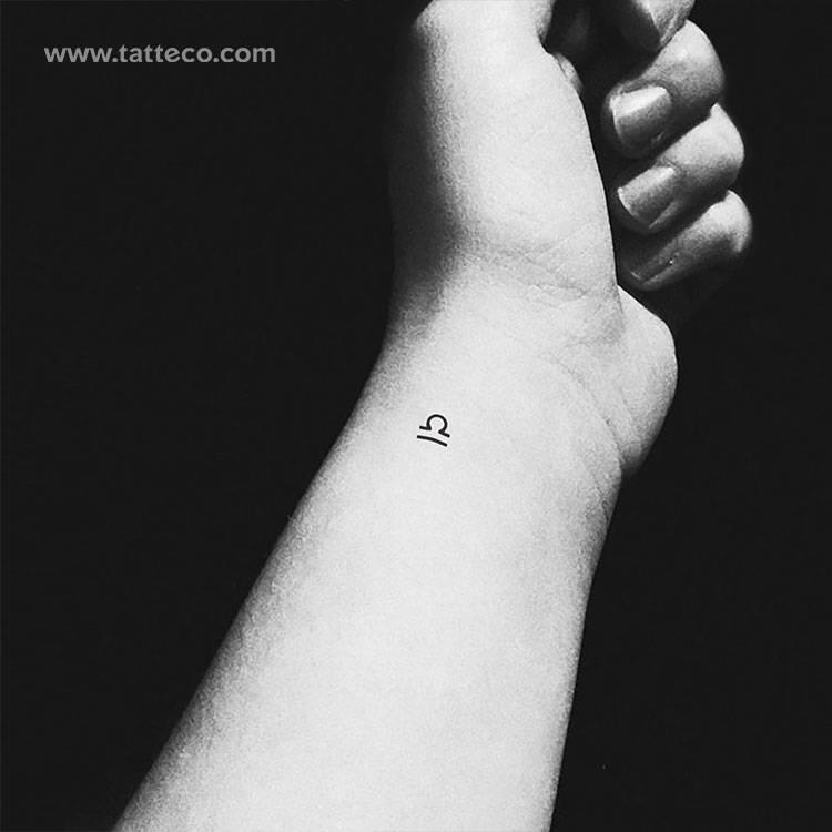 Libra Zodiac symbol temporary tattoo, get it here ►