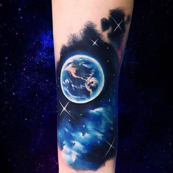 Tatuajes Del Espacio tatuajes inspirado en el espacio (en proceso), situado