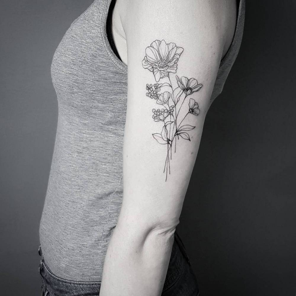 Tattoo styles fine line tattoos for Tattoo lining tips
