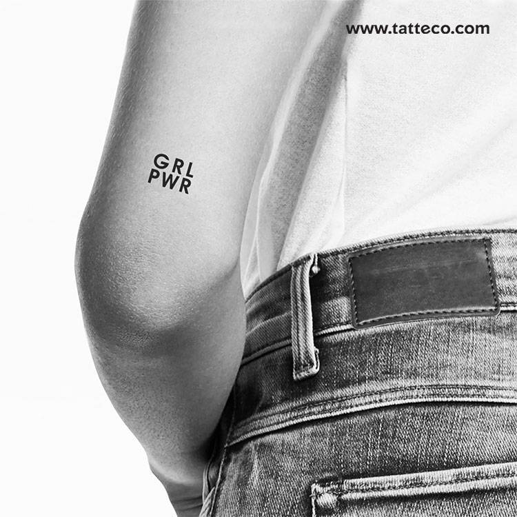 GRL PWR temporary tattoo, get it here ►