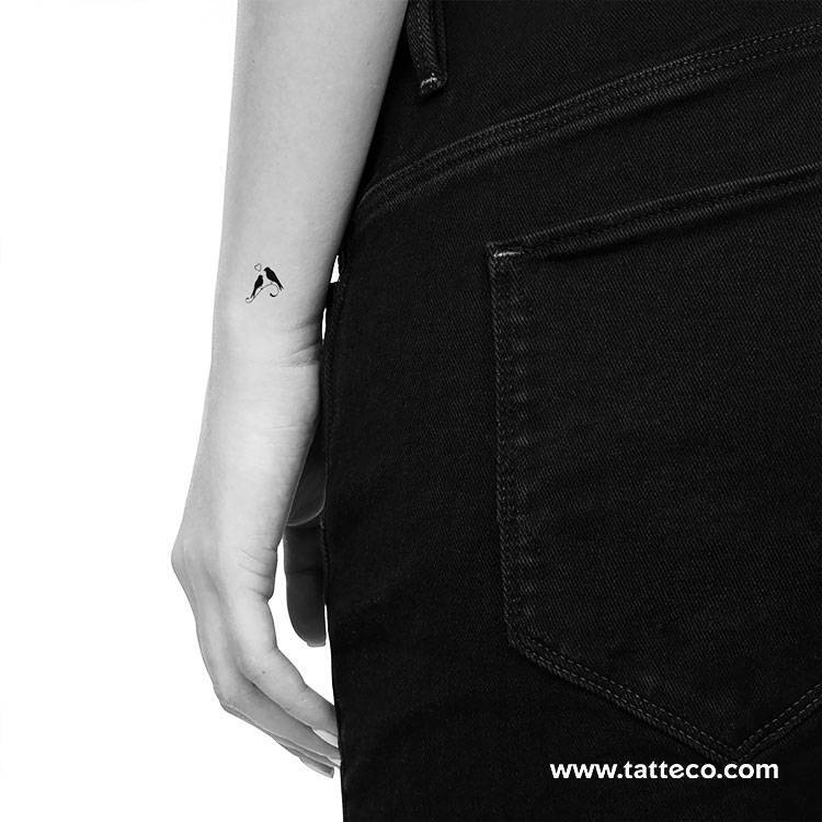 Birds in love temporary tattoo, get it here ►