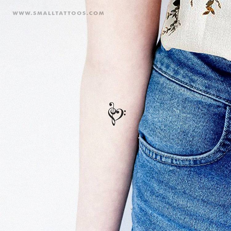 Music heart temporary tattoo, get it here ►