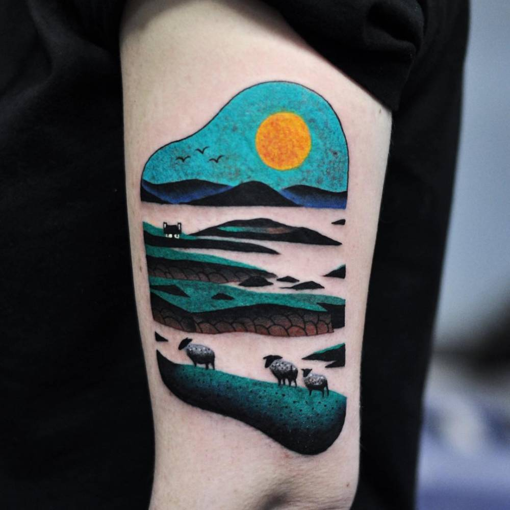 Irish landscape done in Dublin.