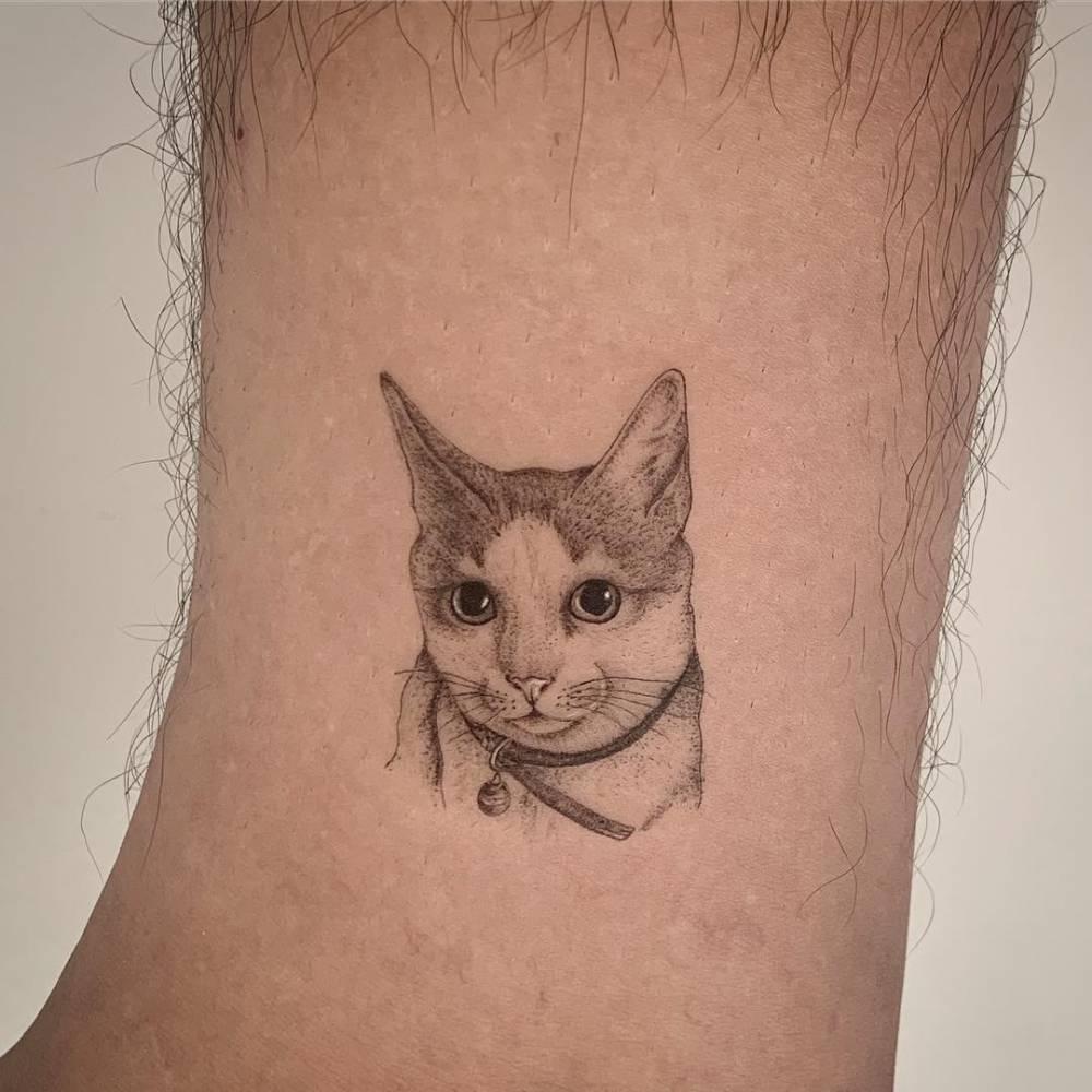 Pachito ? 5 cm - Cat tattoo