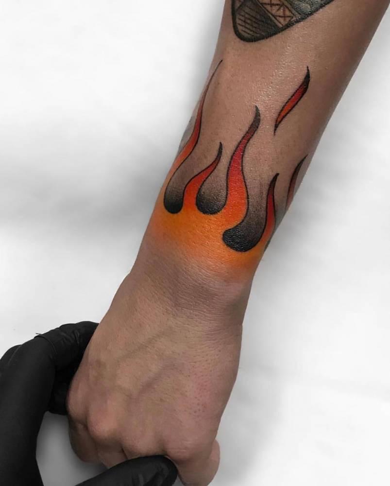 Wrist on Fire