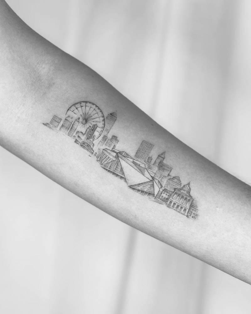 Atlanta Skyline Tattoo