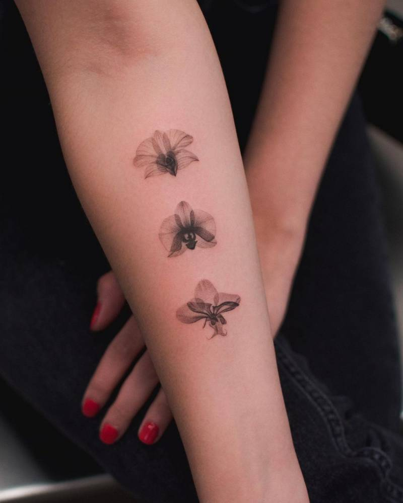 X-ray orchids tattoo