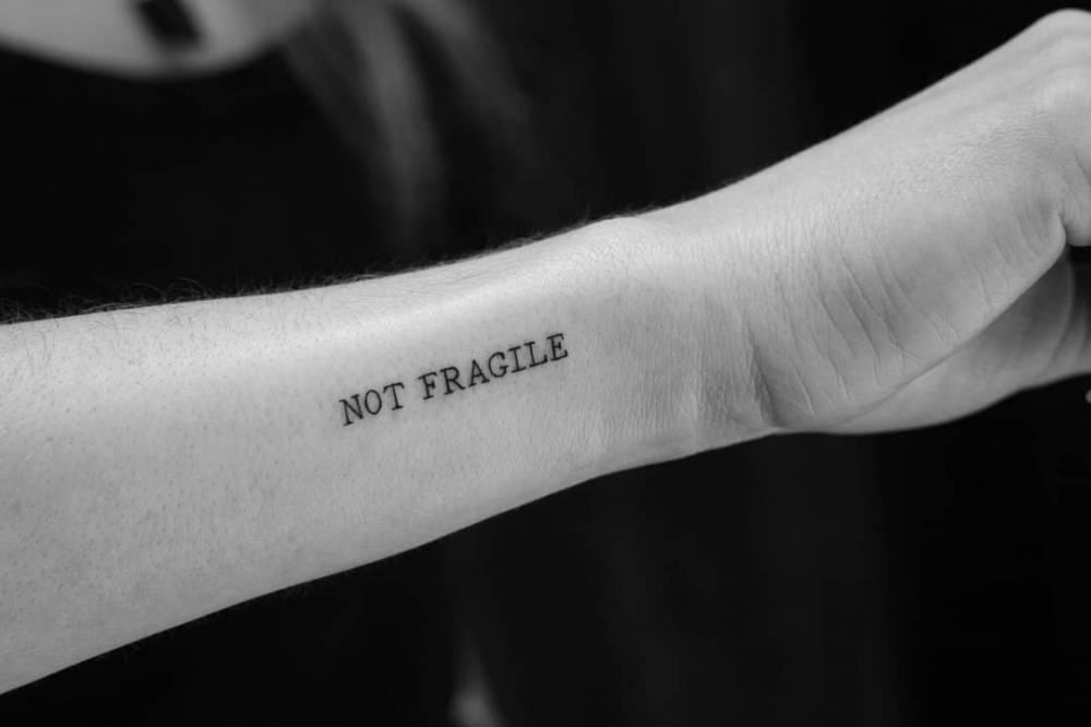 """""""NOT FRAGILE"""""""