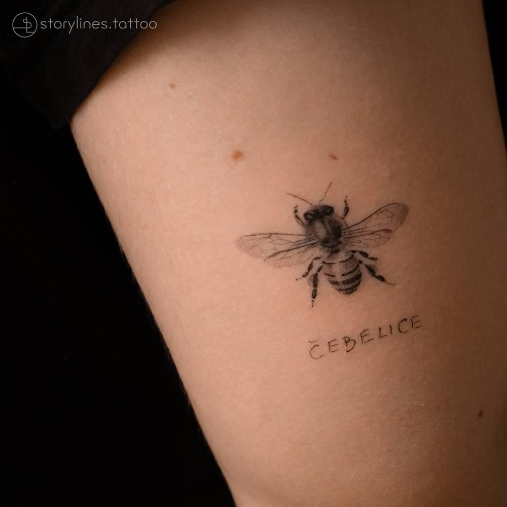 Honey bee with grandma's handwriting