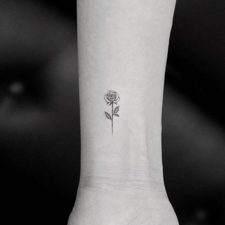 Tiny Rose Tattoos That Will Be Blooming All Year Long