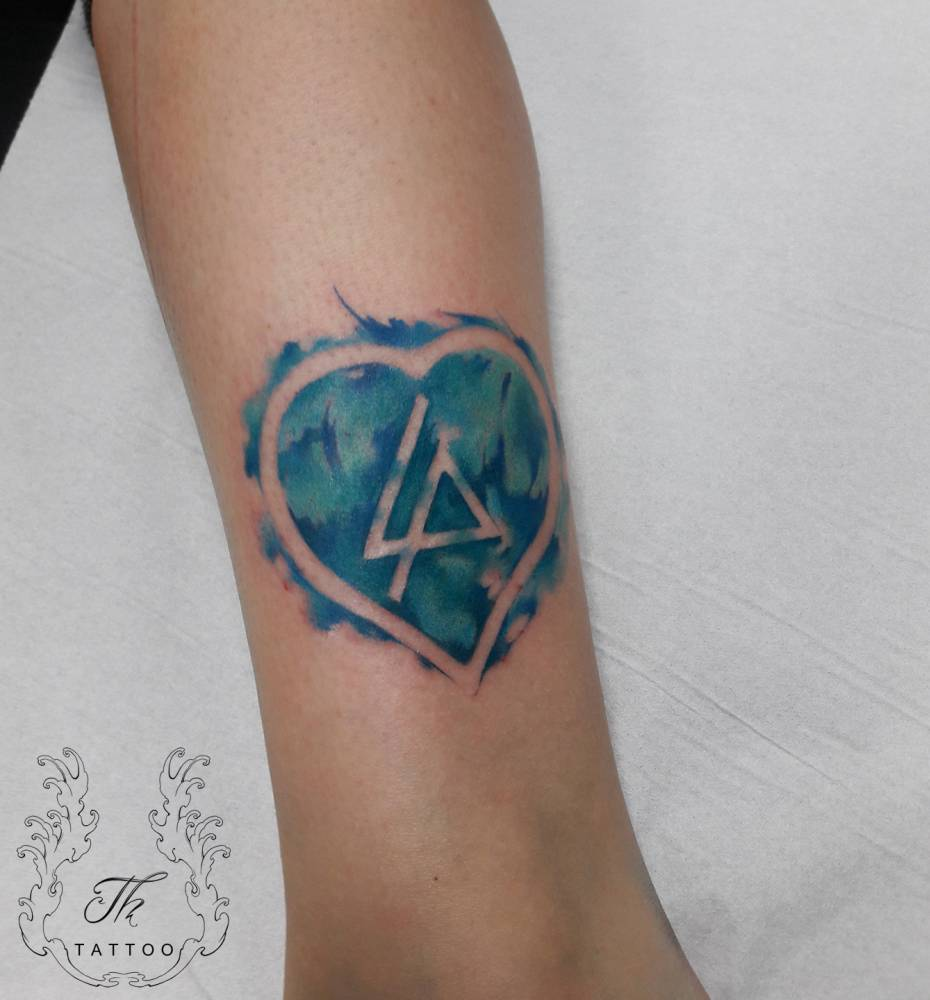 Linkin Park tattoo/ Tatuaje color